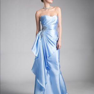 Satin A-Line Evening Dress